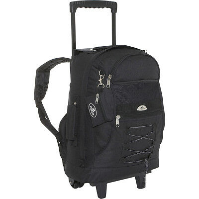 Everest Wheeled Backpack with Bungee Cord 9 Colors Rolling Backpack NEW