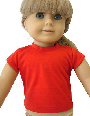 """Red Cap Sleeve Top T-Shirt for 18"""" American Girl Doll Clothes"""