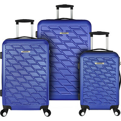 Elite Luggage Ocean 3 Piece Lightweight Hardside Luggage Set NEW