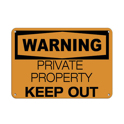 WARNING PRIVATE PROPERTY Keep Out Keep Out Signs Aluminum METAL Sign
