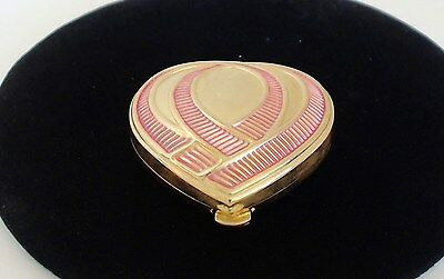 Estee Lauder Pink Ribbon Powder Compact Heart Breast Cancer Awareness 1996 EUC