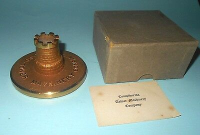 1950-60s Tower Machinery Company of Cleveland Ohio Advertising Paper Weight