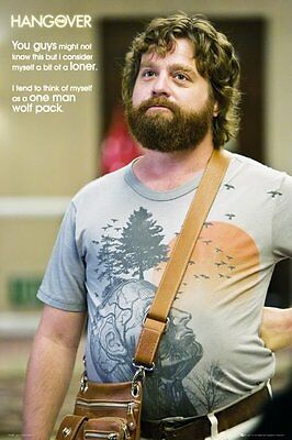 New A One Man Wolf Pack The Hangover Poster