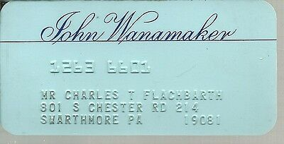 Vintage Collectable Credit Card John Wanamaker Expired For Collection Vg