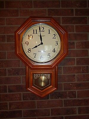 Sterling & Noble Regulator Wall Clock with Westminster Chimes