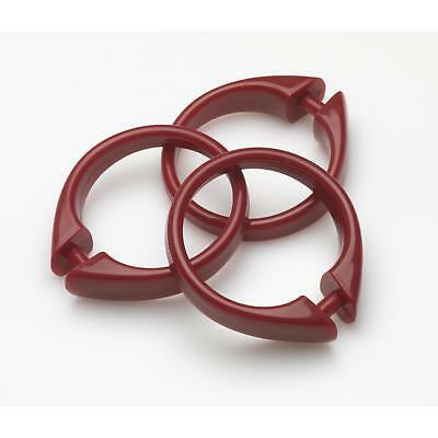 """Carnation Home """"Snap"""" Plastic Shower Curtain Hooks in Ruby"""