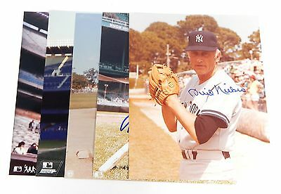 Lot of (5) Signed New York Yankees 8 x 10 Color Photos ^ Nettles Niekro
