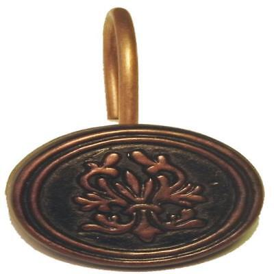 """Carnation Home """"Balmoral"""" Resin Shower Curtain Hooks in Oil Rubbed Bronze"""
