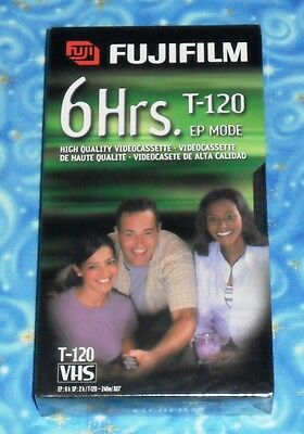 Fujifilm High Quality T-120 Blank VHS Tape 6 Hours in Brand New Sealed Condition