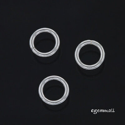 925 Sterling Silver 18ga 17mm Link Connector Jump Rings 4pcs  #5522-17