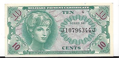 MPC Series 641  10 cents 3rd printing A. UNC