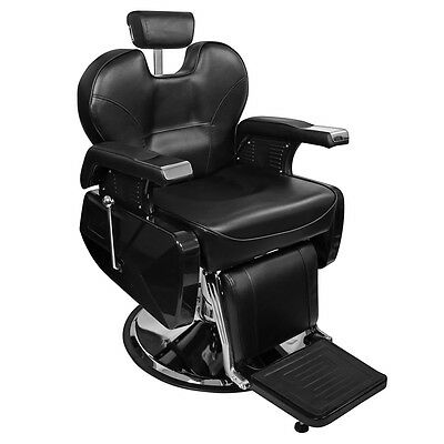 Hydraulic Deluxe Recline Barber Chair PVC Leather Beauty Hair Salon Spa Washing