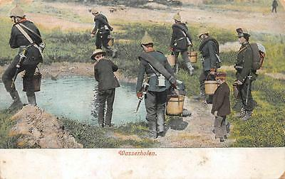 Wasserholen Germany World War I Military Mergentheim Feldpost Postcard 1915 (1)