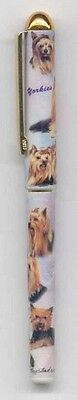 Quality Writing Pen YORKSHIRE TERRIER YORKIE Rollerball Black Ink Pen