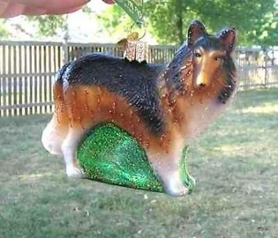 Old World Christmas COLLIE Blown Glass Tree Ornament CLEARANCE SALE