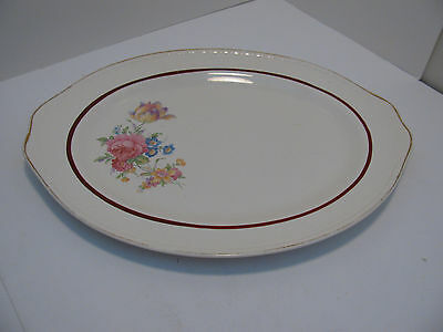 Vintage Homer Laughlin Georgian Eggshell Large Platter - Flowers - M 45 N 5