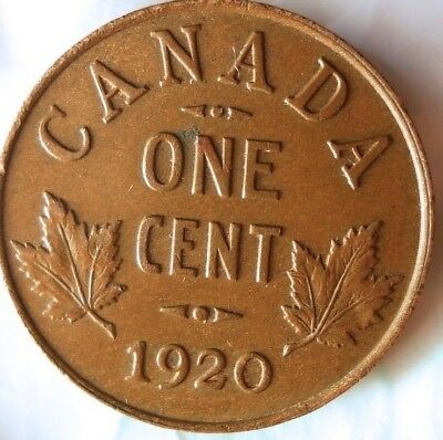 1920 CANADA CENT - 1st Year Small Cent - FREE SHIPPING - Big Canada Bin