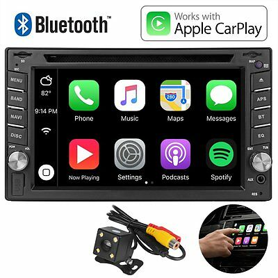"7"" Apple Carplay DVD CD USB Bluetooth Car Headunit Stereo Radio Double 2DIN"