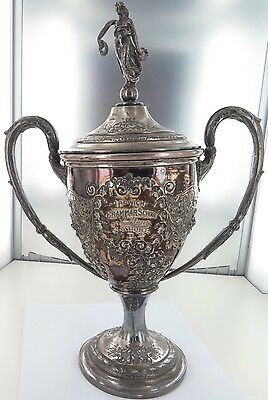 ".Rare Important 1919 Trophy Ipswich Grammar. John Hunt ""The Wally Lewis Of 1924"""