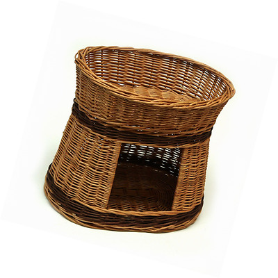 Prestige Wicker Oval Two Tier Pet Bed Basket House