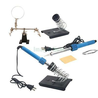 5in1 110V 40W Household Repair Solder Soldering Iron Tools Set with Magnifier