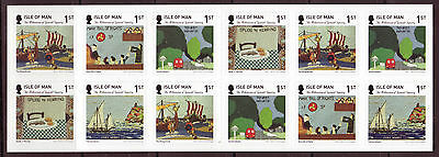 Isle Of Man 2015 Millenium Of Tynwald Tapestry Self Adhesive Booklet Um, Mnh