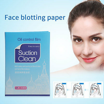 100PCS Clean And Clear Blotting Oil Control Absorbing Facial Paper Tissues
