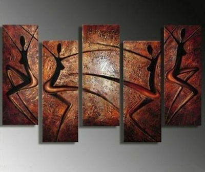5pc MODERN ABSTRACT WALL DECOR HAND-PAINT ART CANVAS OIL PAINTING NO frame)
