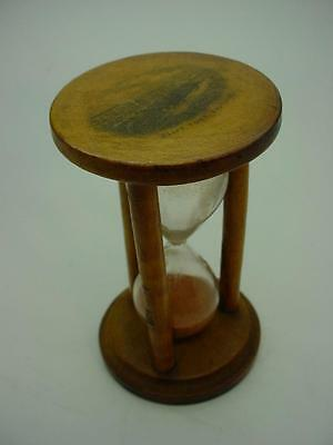 "Vintage Mauchline Wear Treen Sand Timer ""Cliff Town Southend"" Transfer"