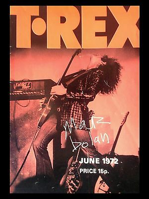 "T Rex Newcastle 1972 16"" x 12"" Photo Repro Concert Poster"