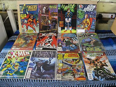 Marvel Comics + Lot Of 12 Mixed Titles And Years In Very Fine +