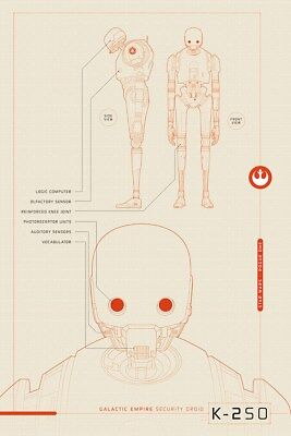 Star Wars Rogue One K-2S0 Plans Poster 61x91.5cm