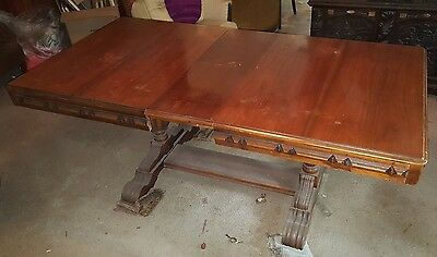Vintage Reaser Furniture Company Dining Room Table with Leaf