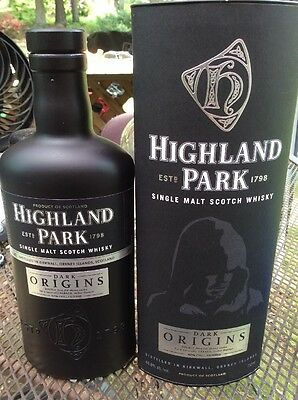 Highland Park DARK ORIGINS Single Malt Scotch Whisky Bottle & Box