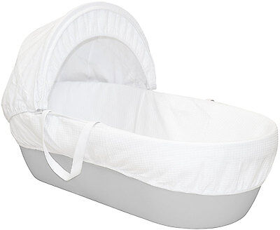Shnuggle MOSES BASKET PEBBLE GREY Modern Comfy Airflow Mattress Included - New