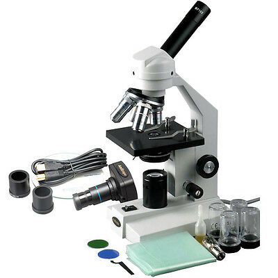 40X-2500X Advanced Student Biological Compound Microscope + USB Digital Camera