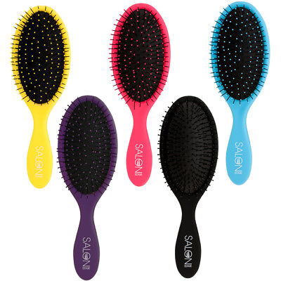 Salon Edge Detangling Wet Hair Brush Gentle Spa Pro All Hair Types CHOOSE COLOR