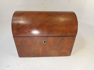 Antique Walnut Domed top Tea Caddy   ref 3075