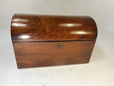 Antique Walnut Domed top Tea Caddy   ref 3069