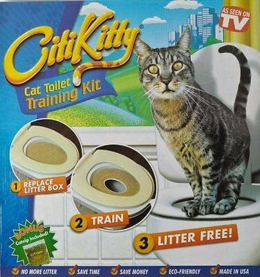 Cat Toilet Litter Tray Kit Training Seat Potty Pan Train System Pet Kitty Catnip