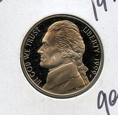 Wonderful 1999-S United States Proof Jefferson Nickel 5c Coin EM994