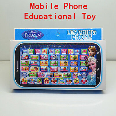 Fun Frozen Figures Educational Learning Mobile Phone Kids Baby Boy Girl Toy Gift