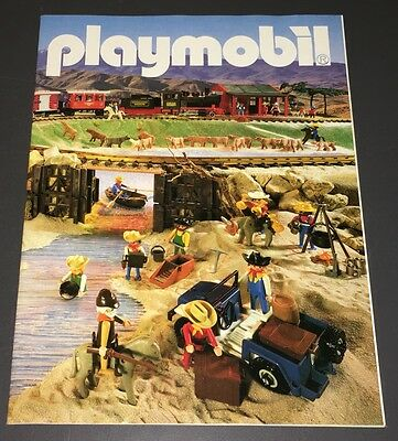 Playmobile Catalog (1986) 36-Pages ~ Features Pirate Ship & Western Trains - Xf!