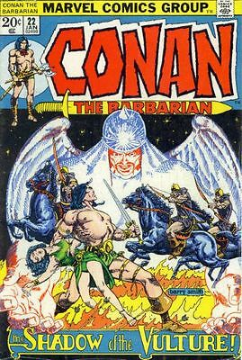 CONAN THE BARBARIAN #22 VG, Barry Smith art, Foxing, Marvel Comics 1973