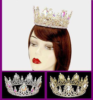 Fashion Pageant Crystal Tiara Glass Queen Crown Bridal Wedding Headband