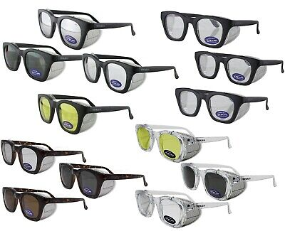 Titus G12 Retro Safety Glasses w/ Side Shields Z87 Ansi DOT Motorcycle Shooting