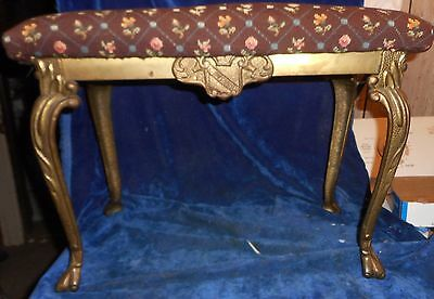 W H Howell,  Antique Victorian Cast Iron Bench With Claw Foot Legs