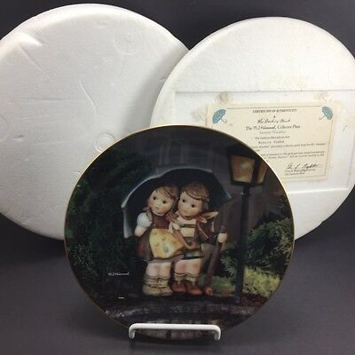 MJ Hummel Little Companions Collection Stormy Weather Danbury Mint Plate 1992