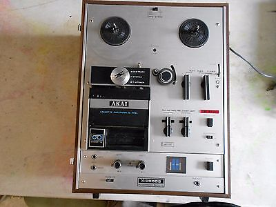 AKAI X-2000 S w/cross-field X Heads- Reel to Reel - Cassette and 8 Track Player