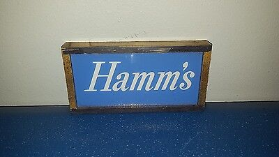 (VTG) Hamm's beer light-up lake blue sign logo plate only sign parts hamms